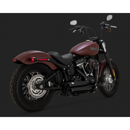 Harley Davidson Vance and Hines Black Short Shots 2018+ Softail 47233