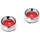 Kuryakyn 2109  Harley  indicator  Deep Dish Turn Signal Bezel  Red Lens