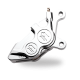Harley Davidson  Performance Machine 0053-2920-CH 4 Piston Front Caliper Right Chrome H-D All 2000-Up