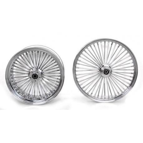 Harley Davidson 26x3.5 King Spoke Fat Spoke Front Wheel In Chrome Ultima 37-540