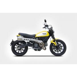 Ducati Scrambler Exhaust Zard High Mounted Homologated Cat Full Kit