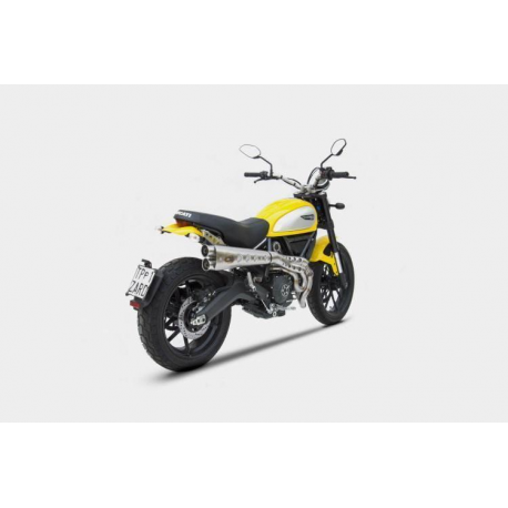 Ducati Scrambler Exhaust Zard High Mounted Special Edition Homologated Cat Full Kit