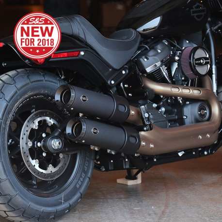 S&S Cycle Grand National Slip-Ons for 2018 M8 Softail Fat Bob
