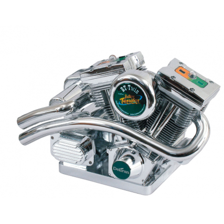 Deltran Battery Tender V-Twin sound  Dual Battery Charger – VTwin Replica Chrome Plated Housing