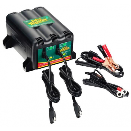 2 motorbike charger 022-0165-DL-WH Battery Tender 1.25A 2 Bank Battery Charger