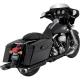 Harley Davidson Vance & Hines 46755 Monster Ovals Slip-On Mufflers Black & Chrome Tips Harley  Touring 95-17 electra-glide stree